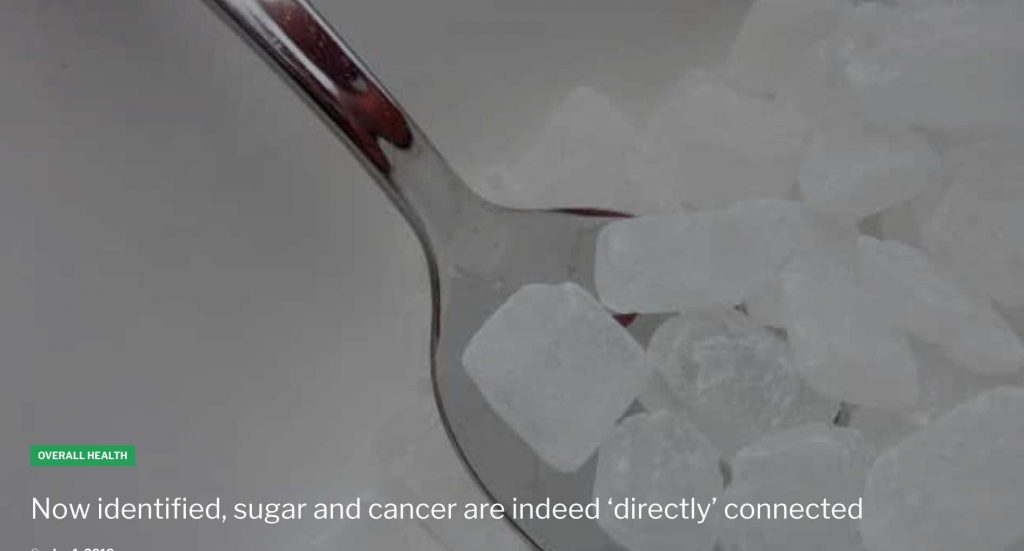 sugar cancer